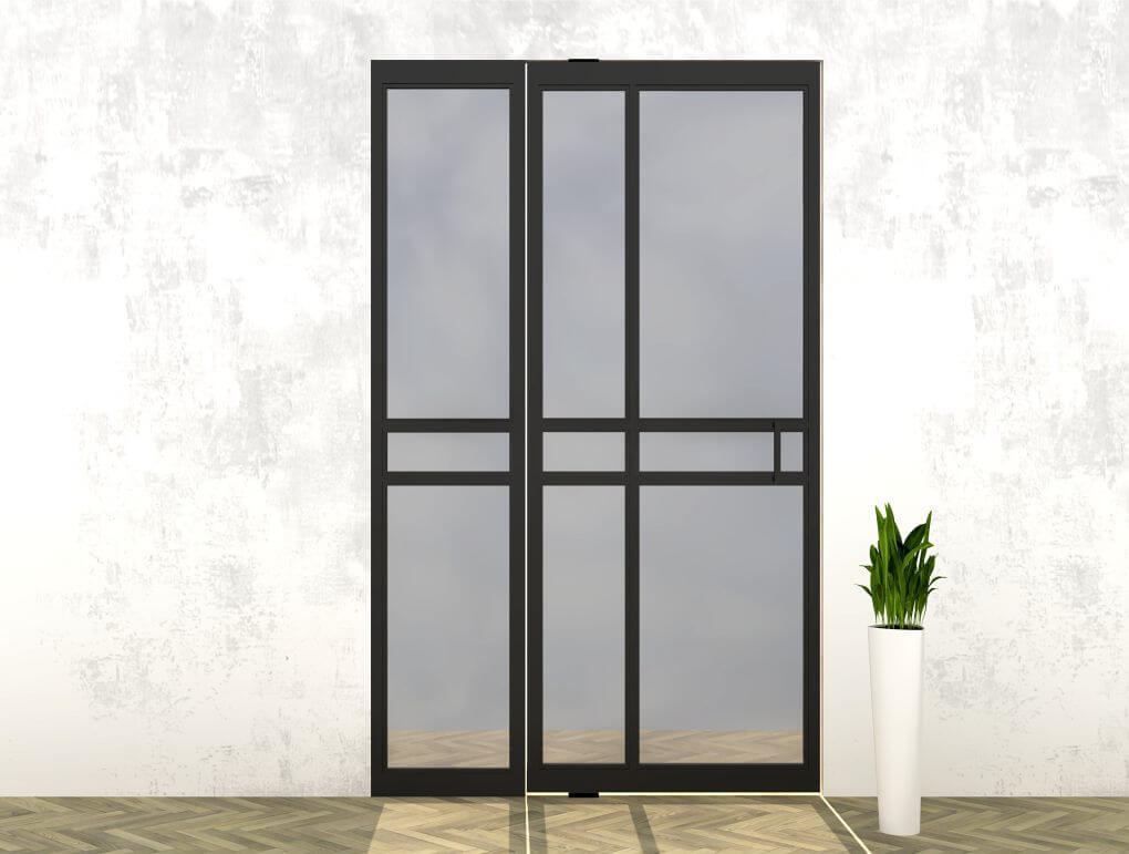 Stalen deur met zijlicht